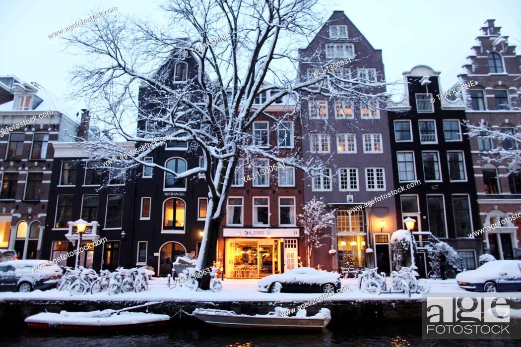 Stock Photo: Winter of 2010 in Amsterdam, Netherlands.