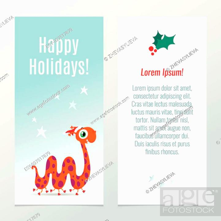 stock vector funny vector christmas and new year holiday banner vertical flyer template with