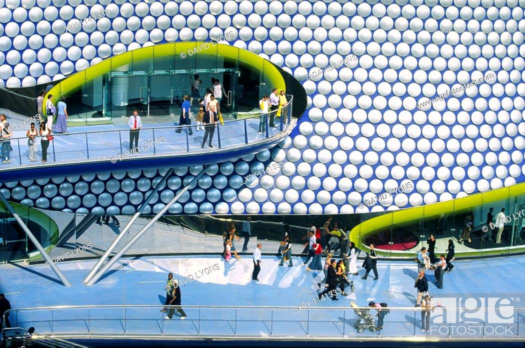 Stock Photo: Selfridges new flagship store, designed by Future Systems, in The Bullring shopping mall, Birmingham, England.