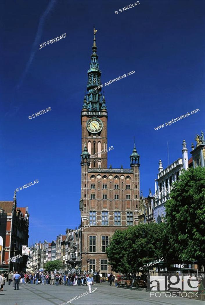 Stock Photo: Poland, Gdansk, City hall.
