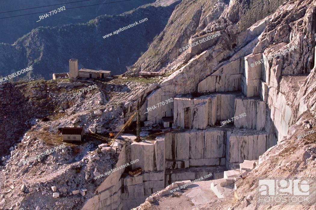 Carrara marble quarry near Antona in Apuane Alps, Tuscany