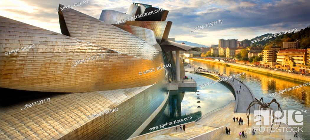 Stock Photo: Guggenheim Museum of Art  Bilbao, Biscay, Basque Country, Spain.