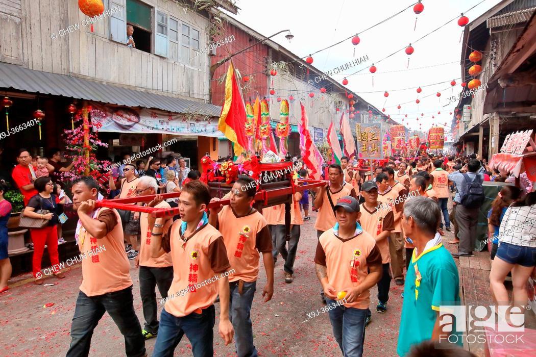 Stock Photo: Chinese New Year Festival Capgomeh celebration, kuching, sarawak, malaysia, borneo.