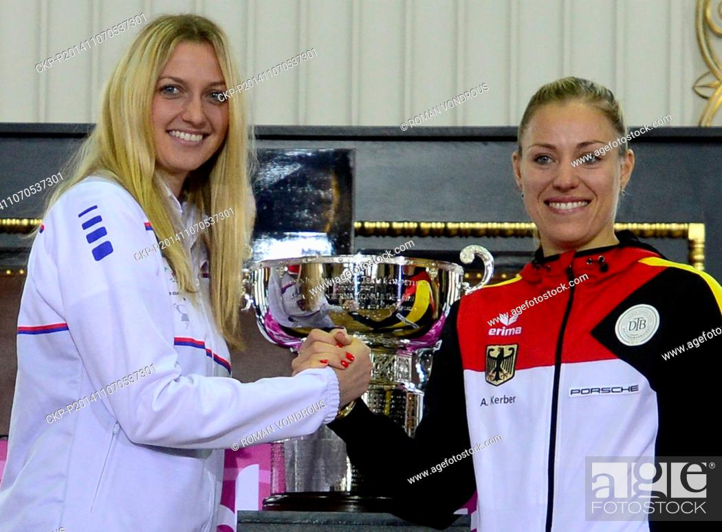 Tennis Draw Of Fed Cup Final Czech Republic Germany Pictured