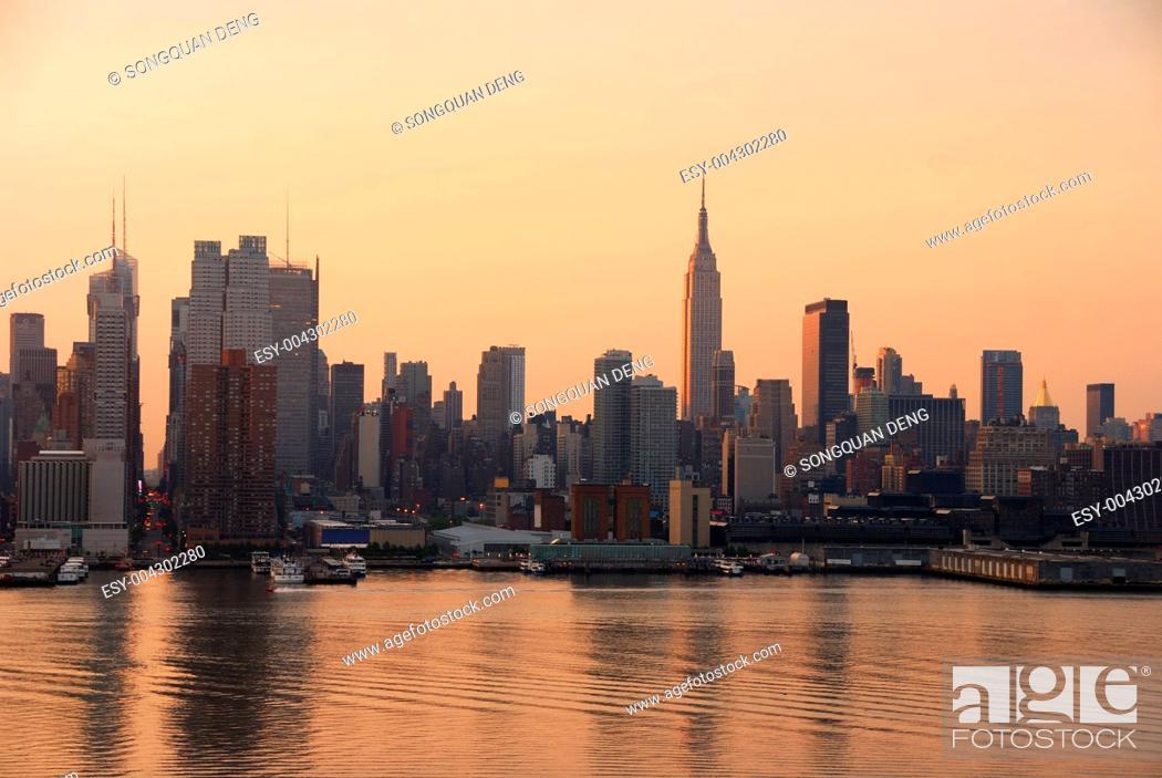 Stock Photo: Manhattan skyline, New York City.
