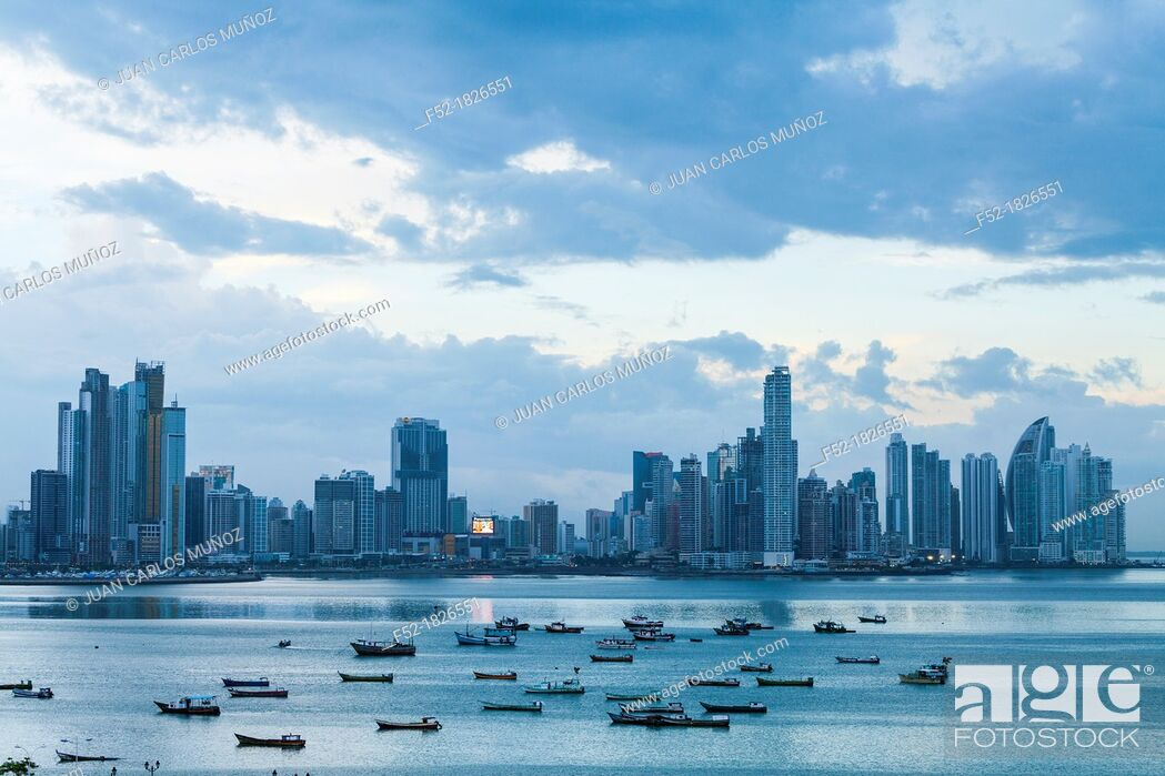 Stock Photo: Skyline, Panama City, Panama, Central America, America.