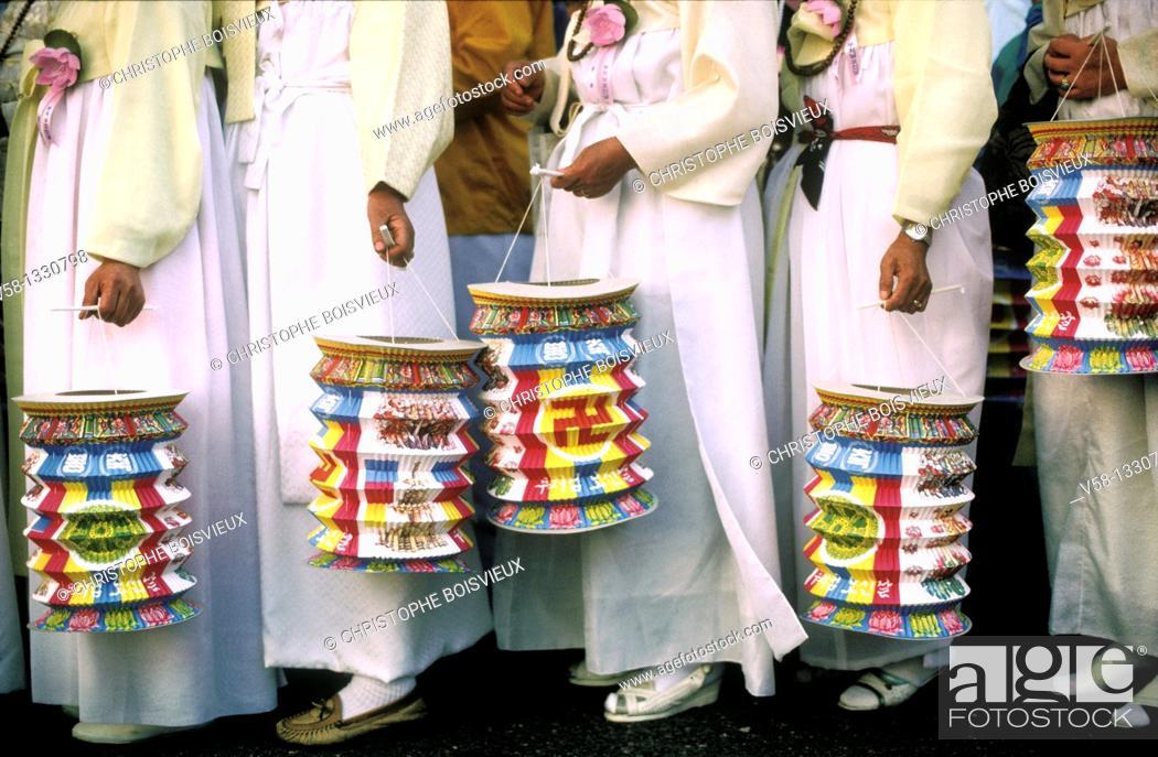 Stock Photo: BUDDHA'S BIRTHDAY FESTIVAL, SEOUL KOREA.
