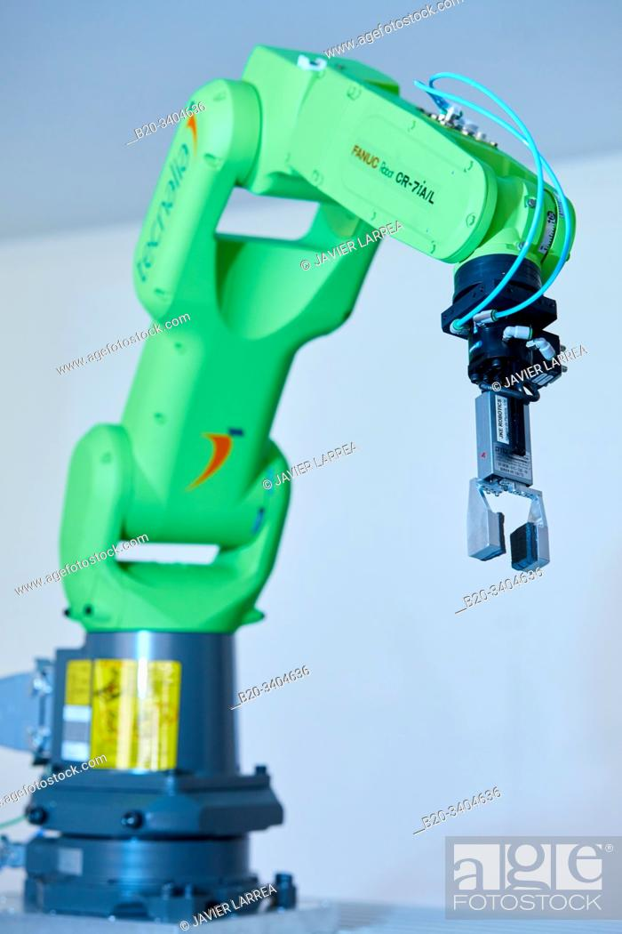 Stock Photo: Robotics development in industry, Robot, Advanced manufacturing Unit, Technology Centre, Tecnalia Research & Innovation, Donostia, San Sebastian, Gipuzkoa.