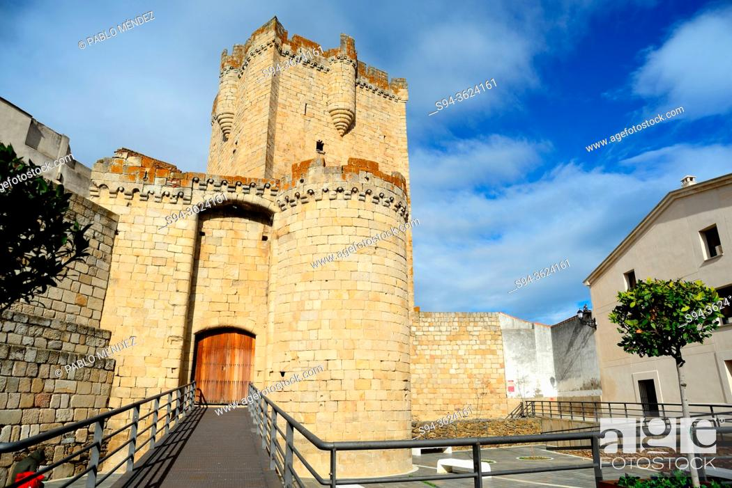 Stock Photo: Castle of Coria, Caceres, Spain.