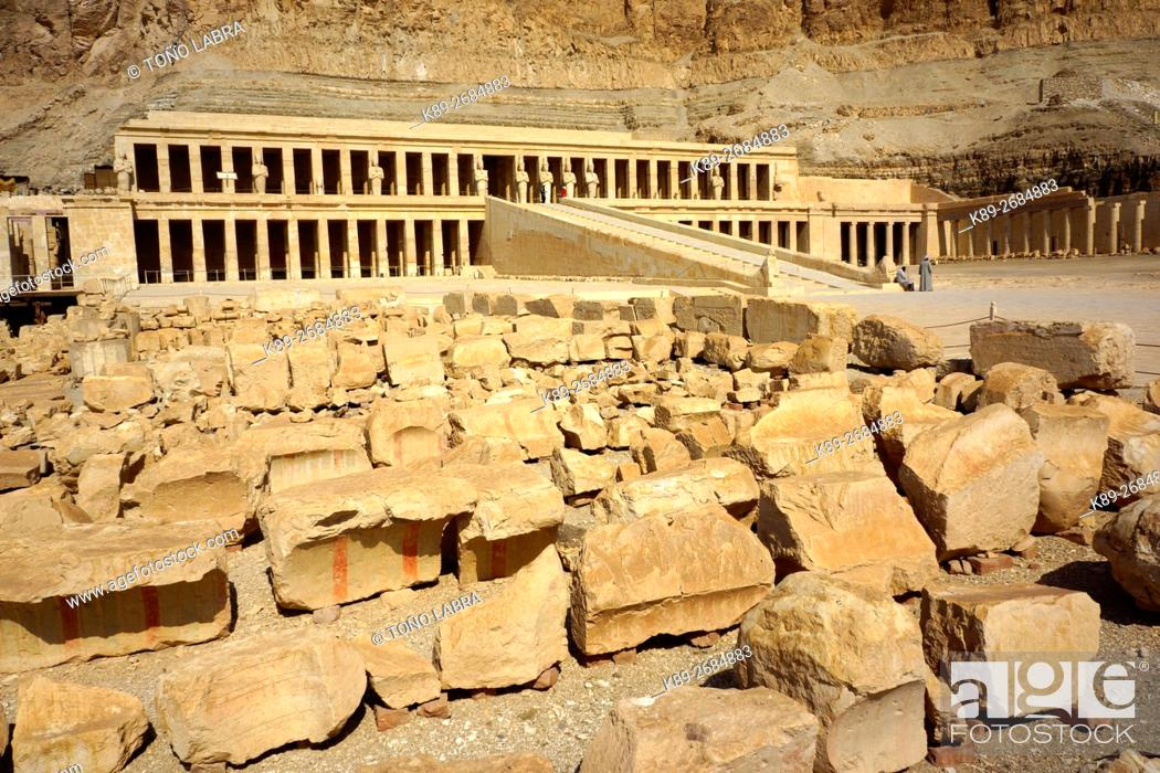 Stock Photo: Hatshepsut Temple. West Bank. Luxor old Thebas. Upper Egypt.