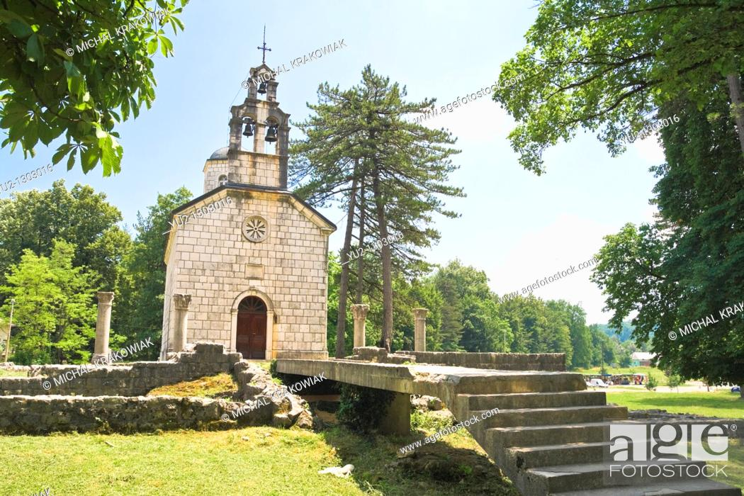 Stock Photo: Court chapel in Cetinje, Montenegro  Built on the ruins of Monastery of Crnojevici.