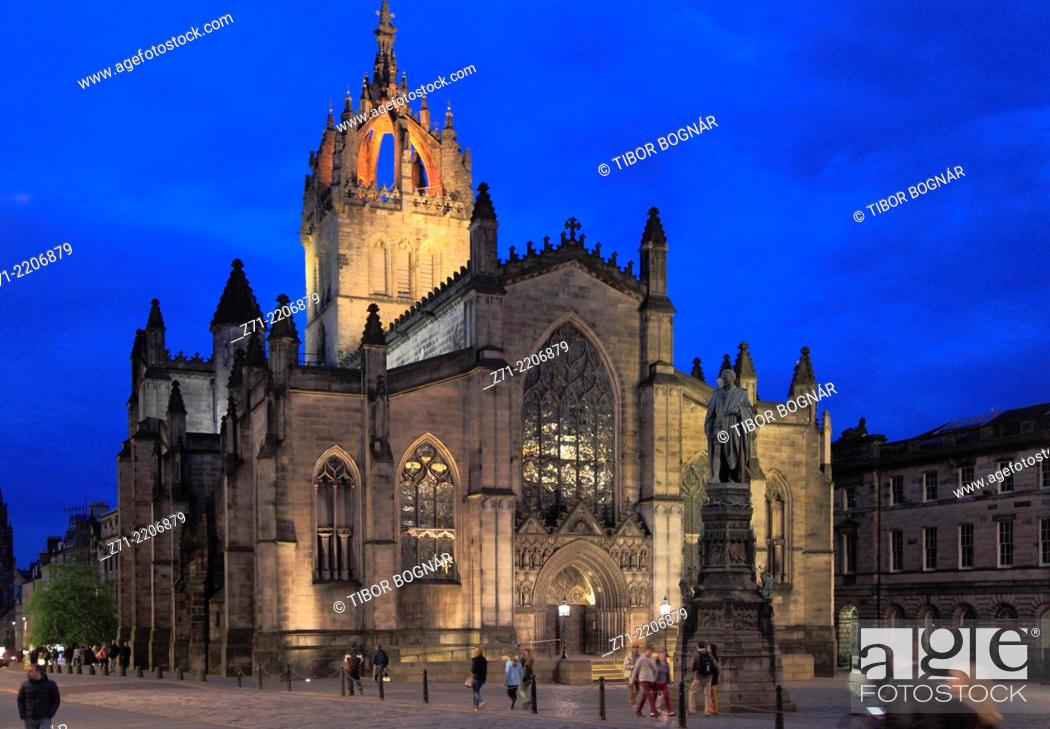 Stock Photo: UK, Scotland, Edinburgh, St Giles' Cathedral, .
