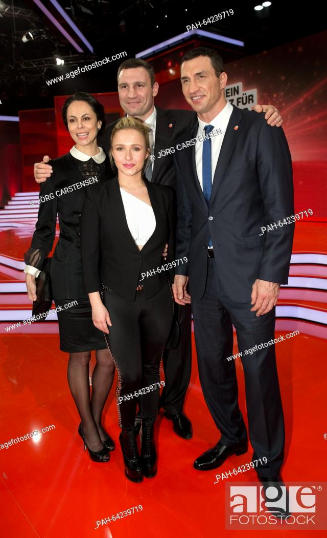 Ukrainian boxer Wladimir Klitschko (L) with his girlfriend