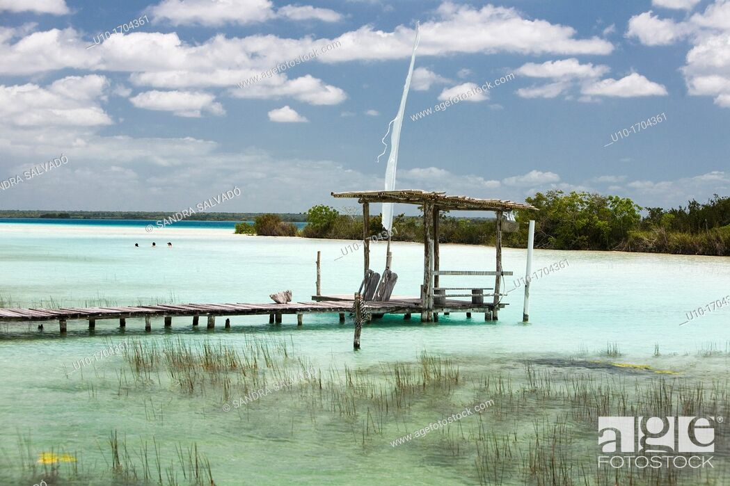 Stock Photo: Bacalar Lagoon, México.