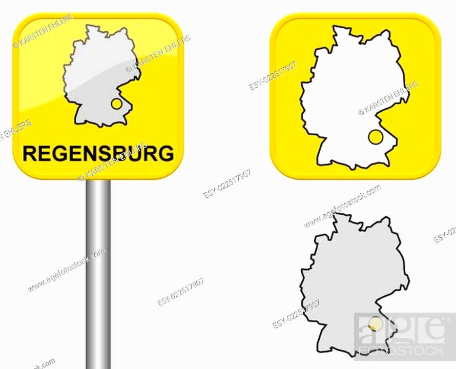 Map Of Regensburg Stock Photos And Images Agefotostock