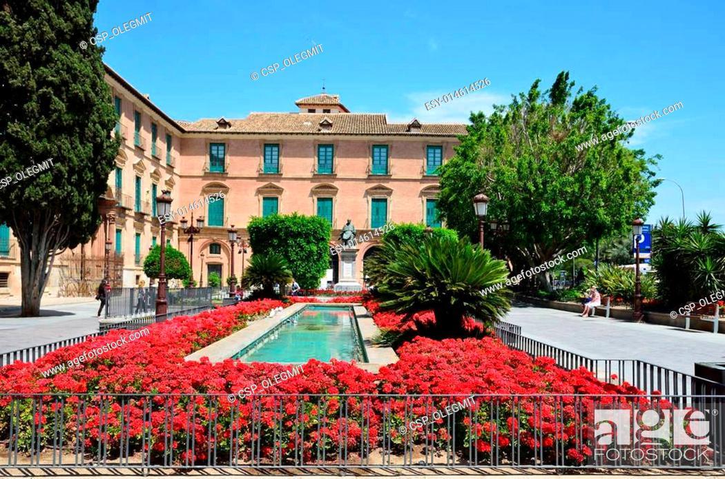 Stock Photo: Spring view of Murcia.