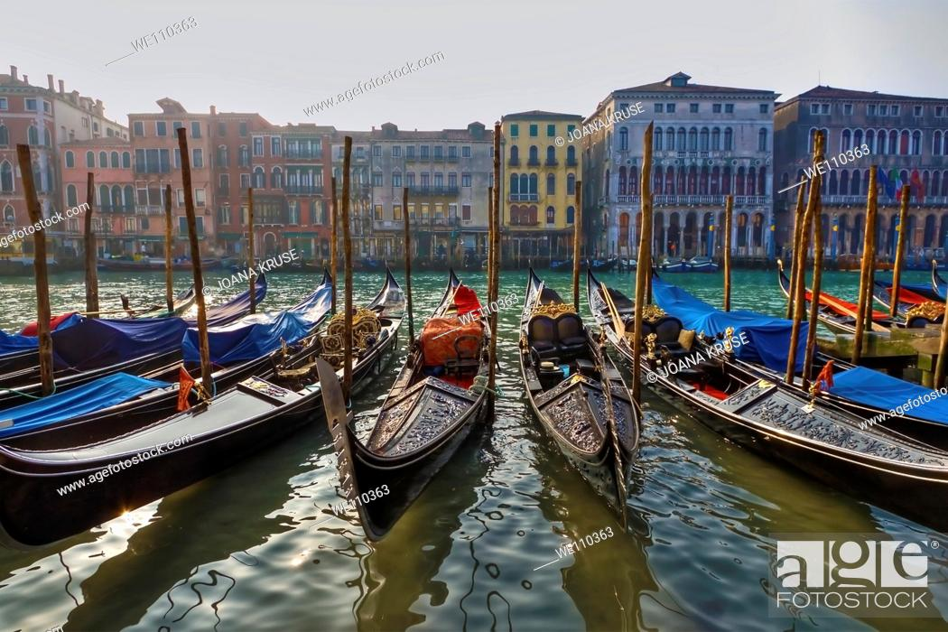 Stock Photo: impression from Venice in Italy with its typical channels and boats.