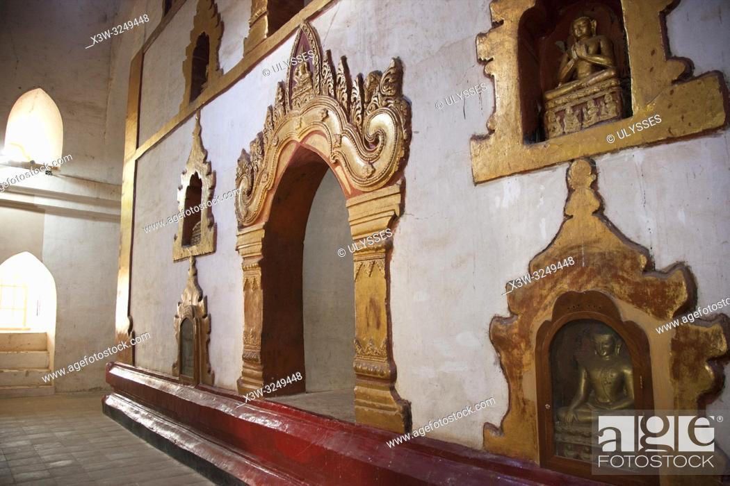 Stock Photo: Ananda temple, Old Bagan village area, Mandalay region, Myanmar, Asia.