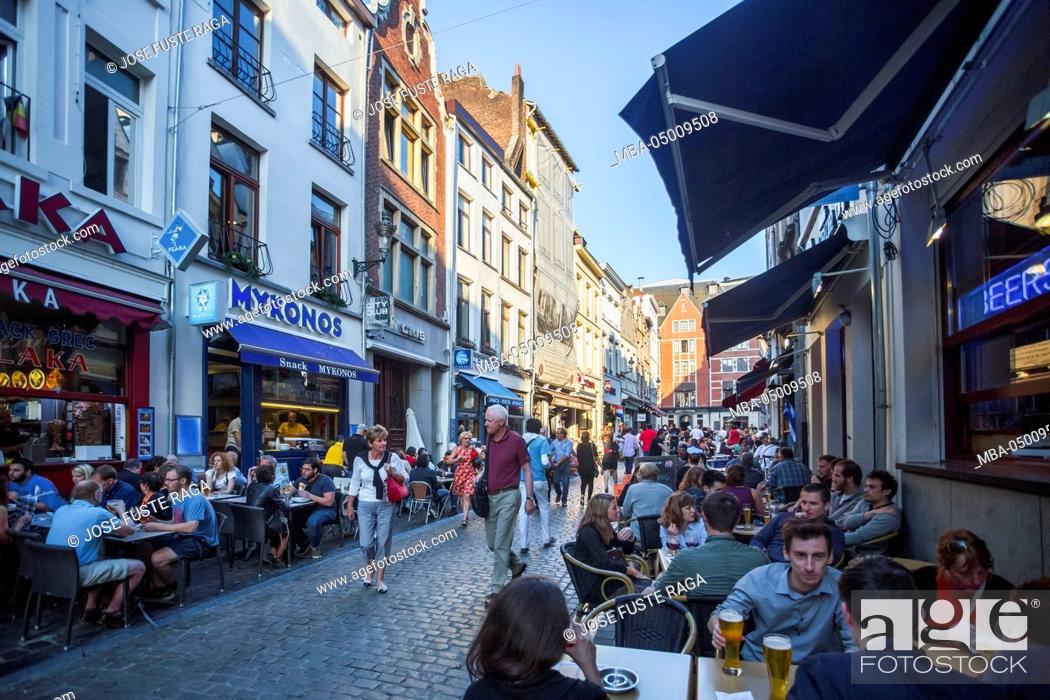 Stock Photo: Belgium, Brussels City, Kaasmarkt Street (Cheese street), near Grand Place.
