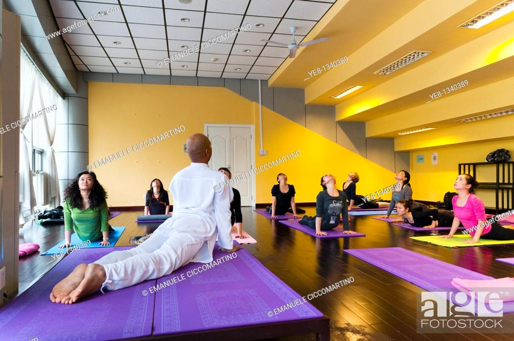 Stock Photo: Hatha Yoga school, Chaoyang District, Beijing, China, Asia  PR.