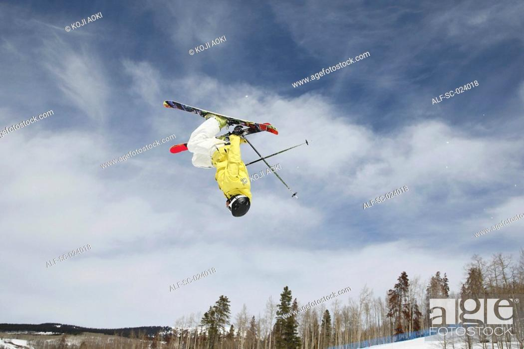Stock Photo: Acrobatic Skier.