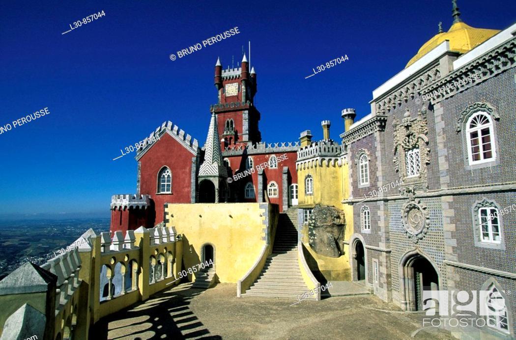 Stock Photo: Pena National Palace, Sintra, Portugal.