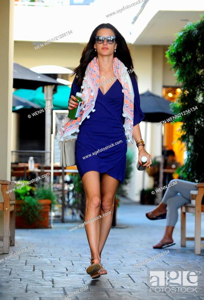 339d41b1f8 Stock Photo - Alessandra Ambrosio stops for lunch and bought a couple of  bottles of juice Featuring  Alessandra Ambrosio Where  Brentwood