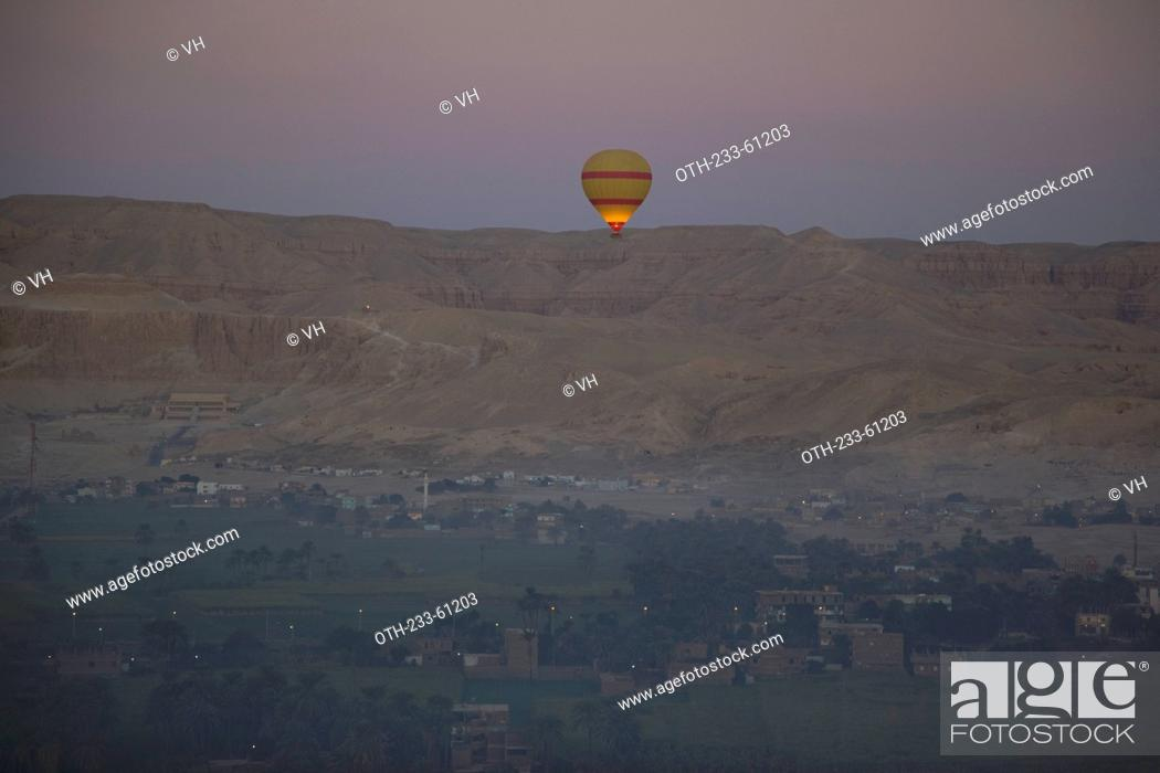 Stock Photo Aerial View Overlooking The Hatshepsut Temple Valley Of Kings From