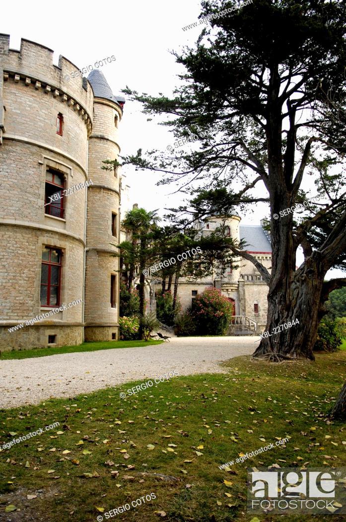 Stock Photo: Château d'Abbadie, Hendaye, Aquitaine, France.