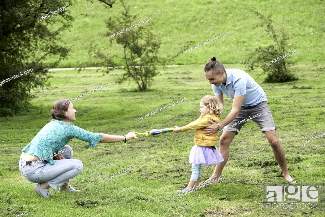 Stock Photo: Family in park. Munich, Germany.