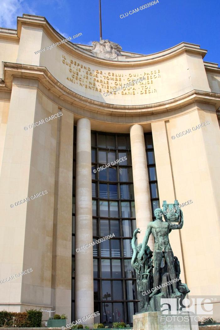 Stock Photo: Chaillot Palace, Paris, France, Western Europe.