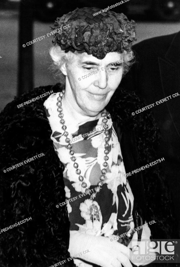Stock Photo: Former First Lady Lou Henry Hoover 1874-1944, First Lady 1929-1933, circa 1950s.