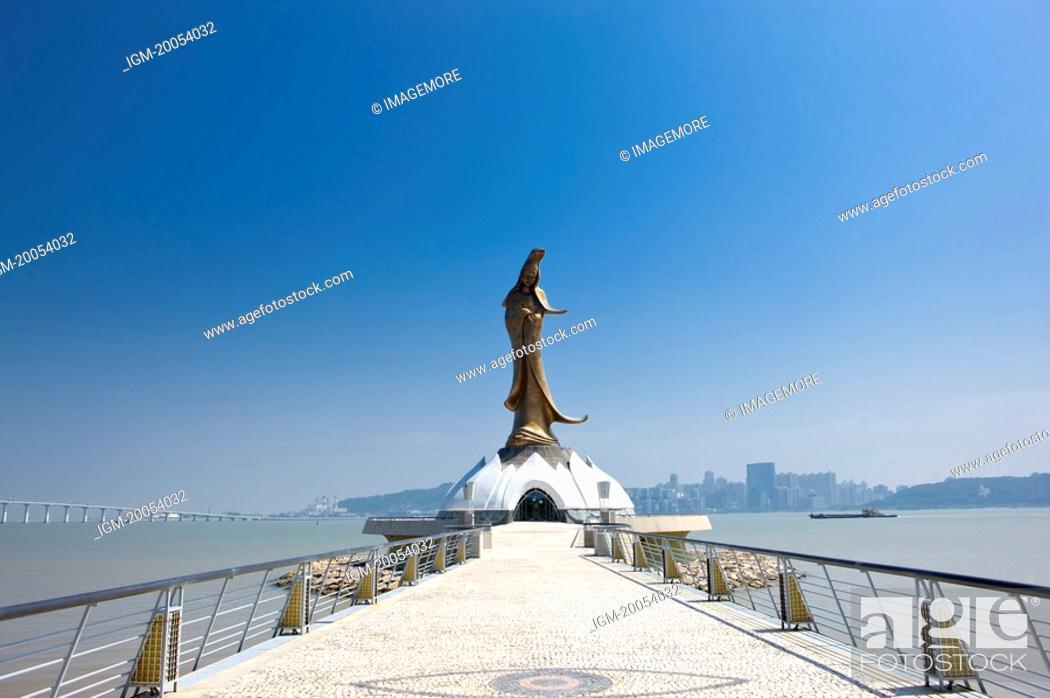 Stock Photo: China, Macou, Statue of Guanyin.