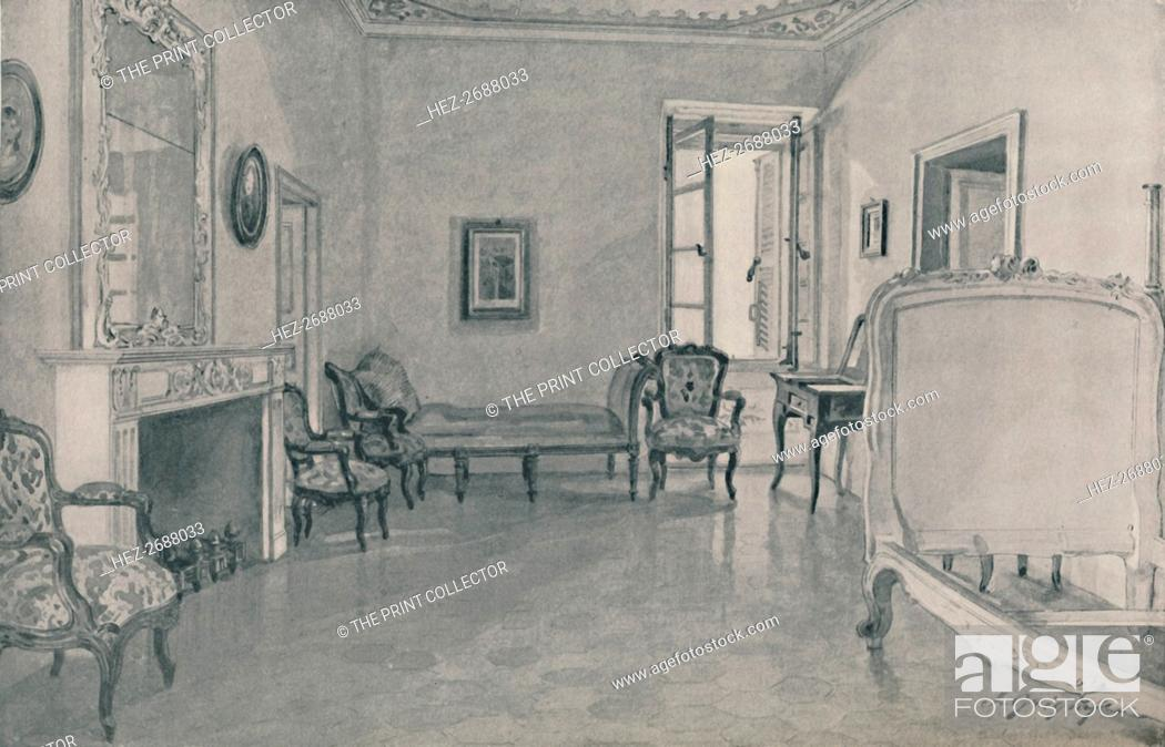 Stock Photo: 'Room in Which Napoleon Was Born', 1896. Artist: Unknown.