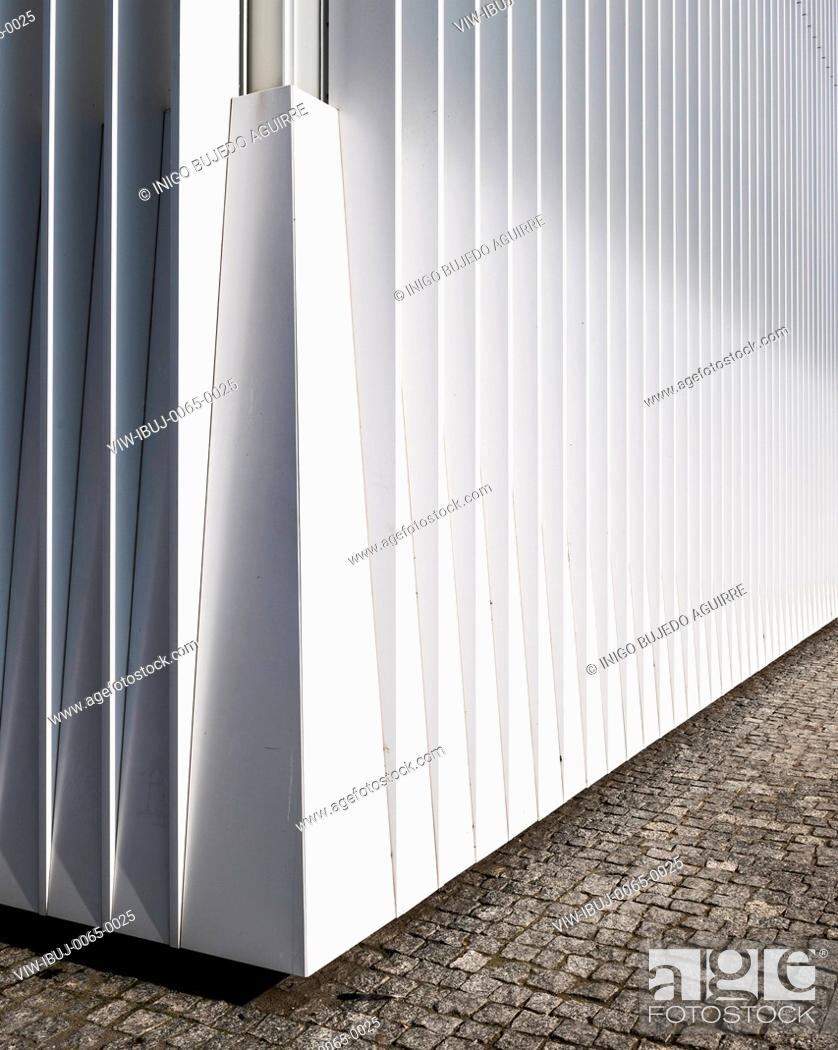 Stock Photo: Facade detail. Szczecin Philharmonic Hall, Szczecin, Poland. Architect: Estudio Barozzi Veiga, 2014.
