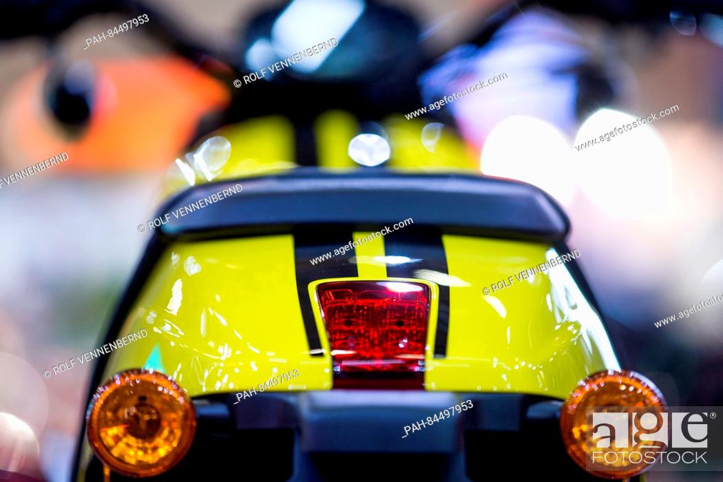 Trade Motorcycle For Car >> The Rear Of A Harley Davidson At The Intermot Motorcycle