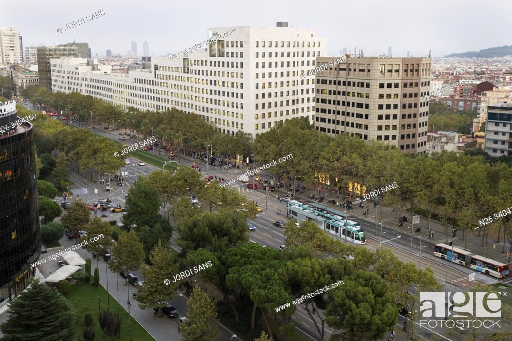 Stock Photo: Diagonal avenue, Barcelona. Illa Diagonal shopping centre.