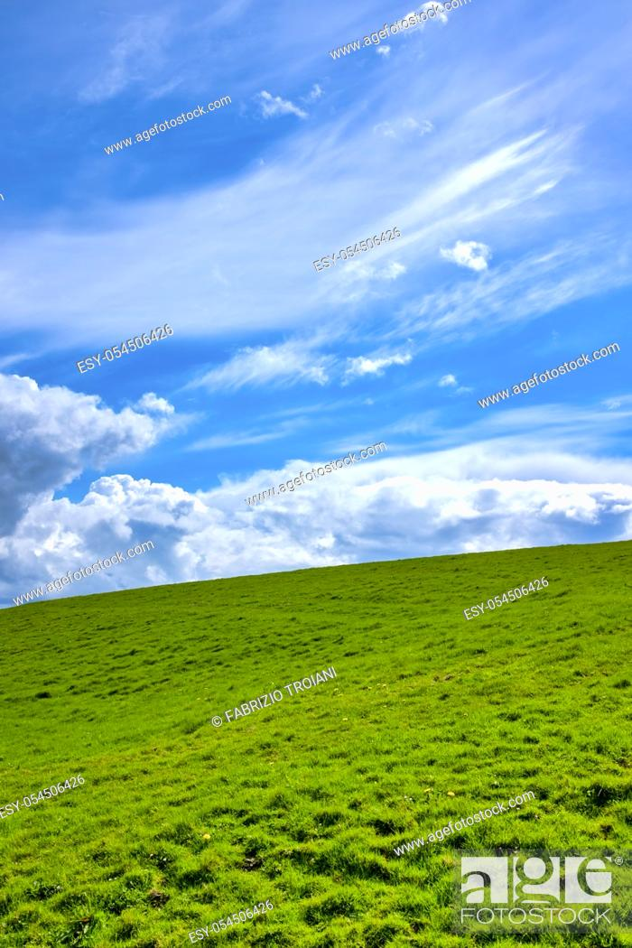 Stock Photo: Hills on the regional road R478, County Clare, Ireland.