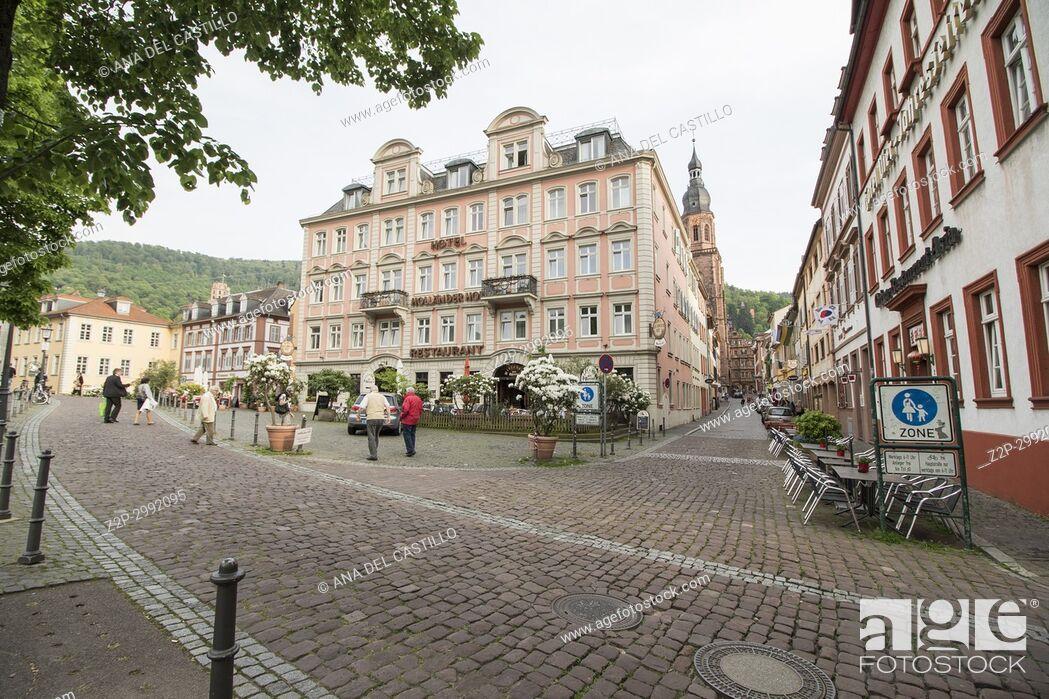 Imagen: Cityscape in Heidelberg Baden Wurttemberg Germany.