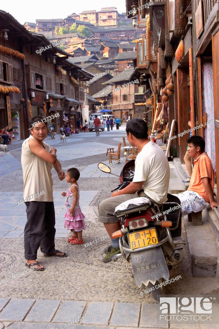 Stock Photo: Street environment in Xinjiang, Xinjiang, Guizhou, China.