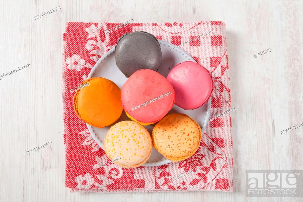 Stock Photo: French Macarons.