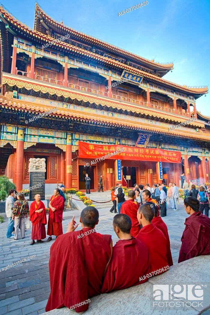 Stock Photo: China - Beijing PÚkin - Chaoyang district - Temple of the Llamas Yonghegong.