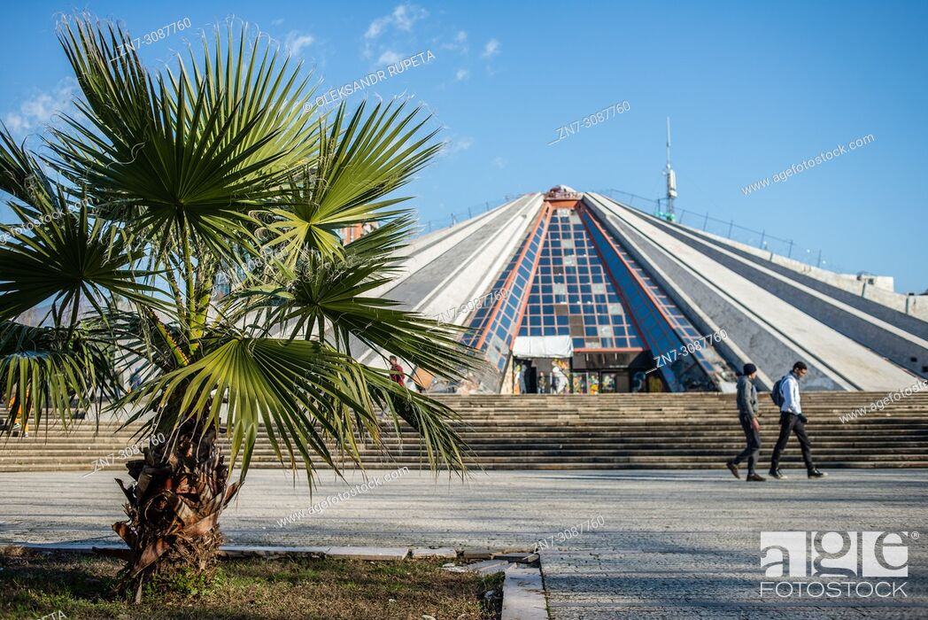 Stock Photo: Pyramid of Tirana, Tirana, Albania.