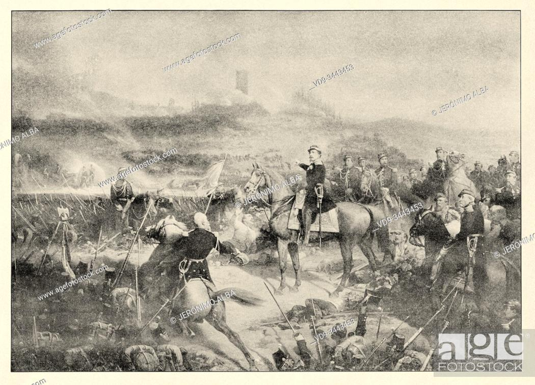 Photo de stock: The war of Italy. The battle of Solferino took place on June 24, 1859, in the town of Solferino in Italy. The Austrian army.
