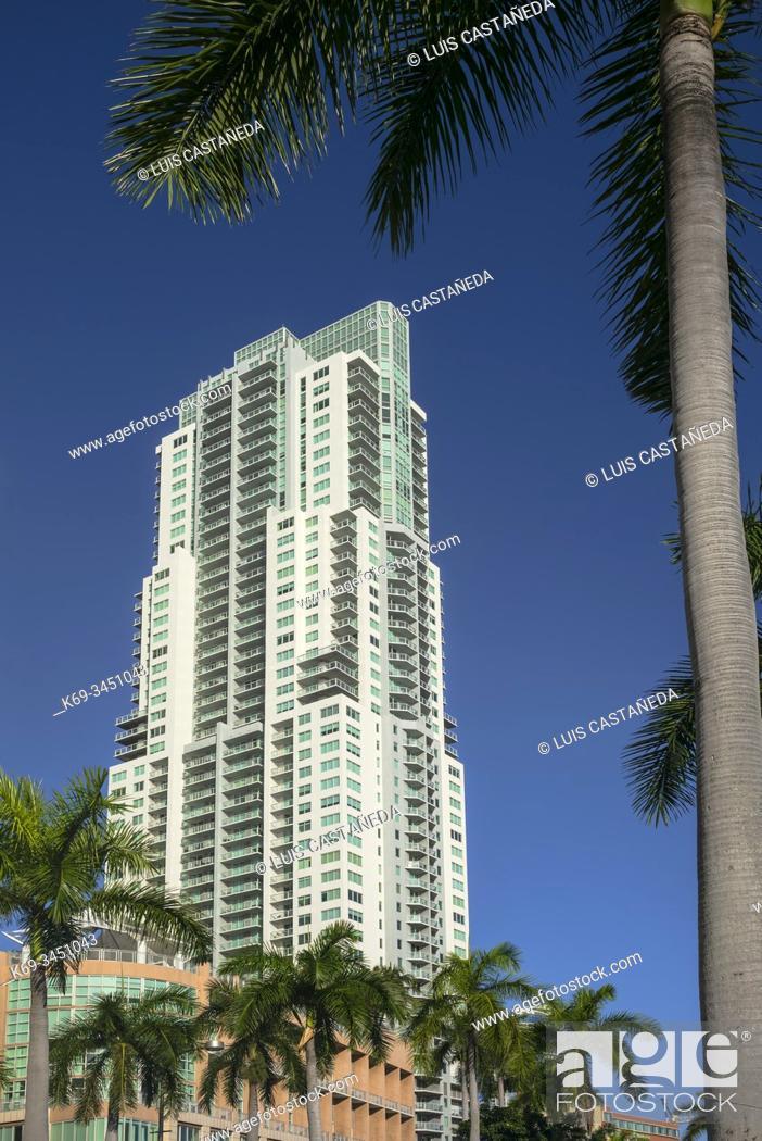 Stock Photo: Biscayne Boulevard Building. Downtown Miami. Florida. USA.