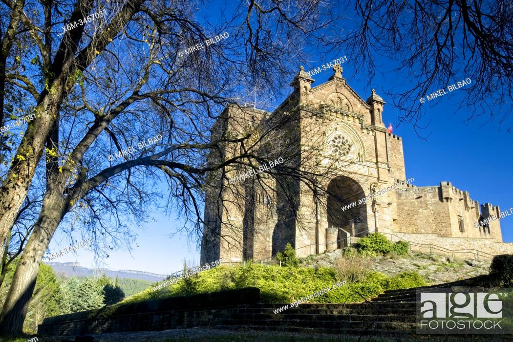 Stock Photo: Castle of Xavier, the birthplace of Saint Francis Xavier. Navarre, Spain, Europe.