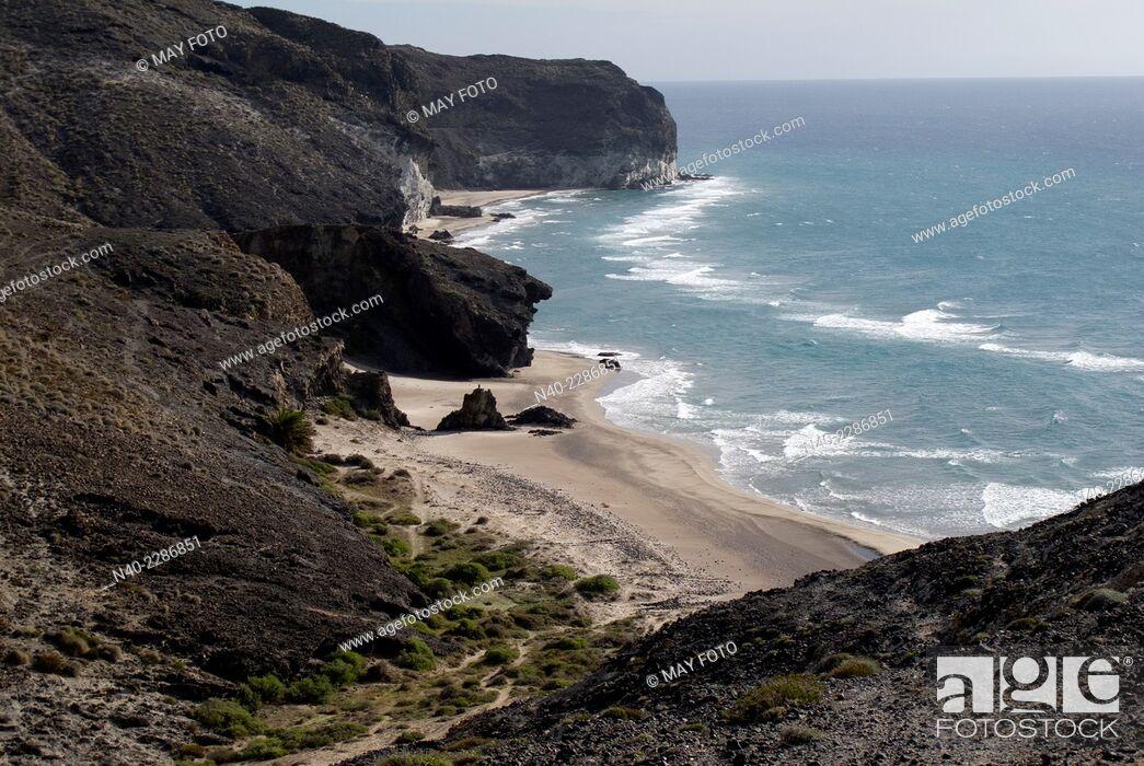 Stock Photo: Cala Grande and cala Chica, Cabo de Gata, Almería.