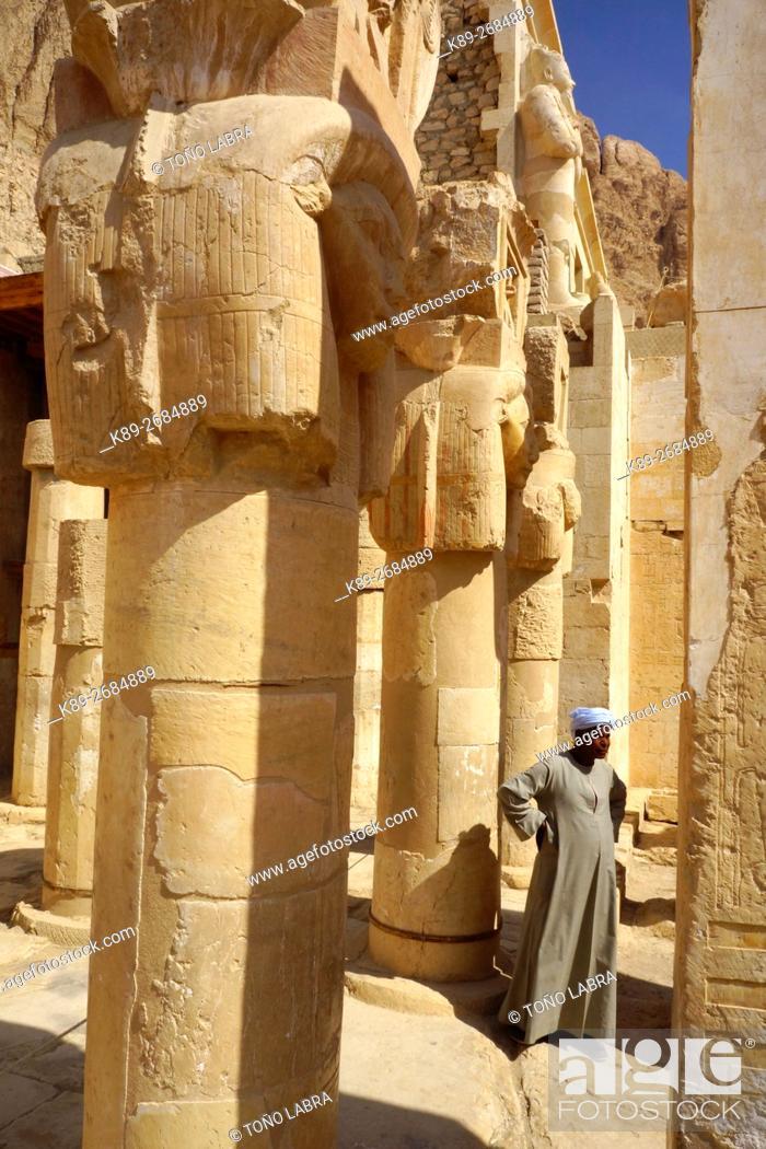Imagen: Hatshepsut Temple. West Bank. Luxor old Thebas. Upper Egypt.