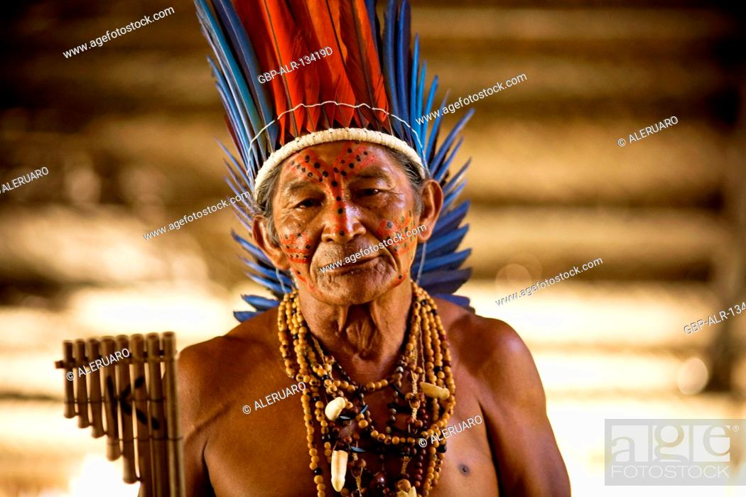 Imagen: Indian, Dessano Tribe, Tupé Community, Manaus, Amazônia, Amazonas, Brazil.