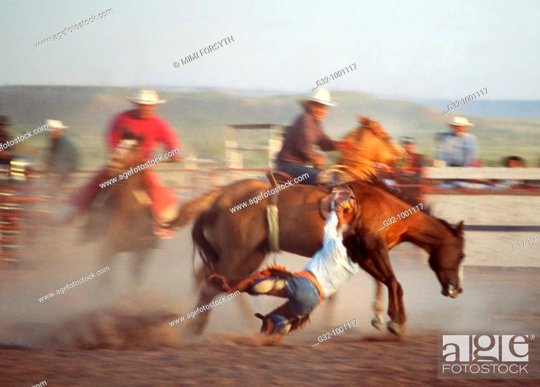 Stock Photo: Navajo rodeo, Arizona.